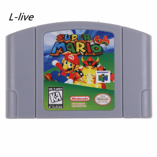 NEW Nintendo N64 Game Super Mario 64 Video Game Cartridge Console Card US VER