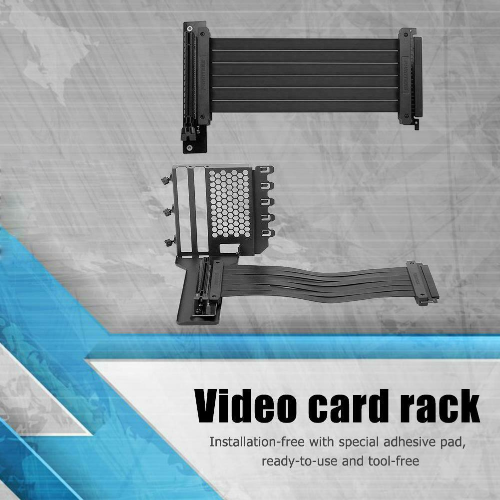 7 PCI Vertikal Hülle Grafikkarte Halter Ständer Gpu Halterung Video Karte Rack