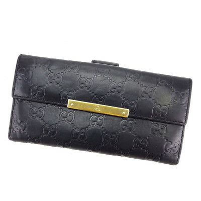 Auth GUCCI Double Sided Wallet GUCCI Shima unisexused L1668