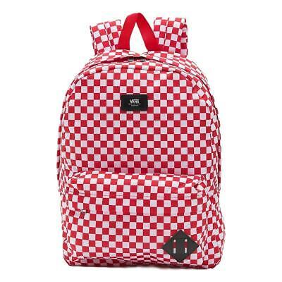Vans NEW Men's Old Skool III Backpack - Red Check BNWT