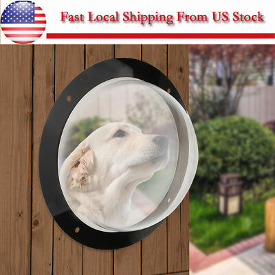 Pet Peek Window Fence   Acrylic Clear Dome Window For Pets Cats Dogs See Outside
