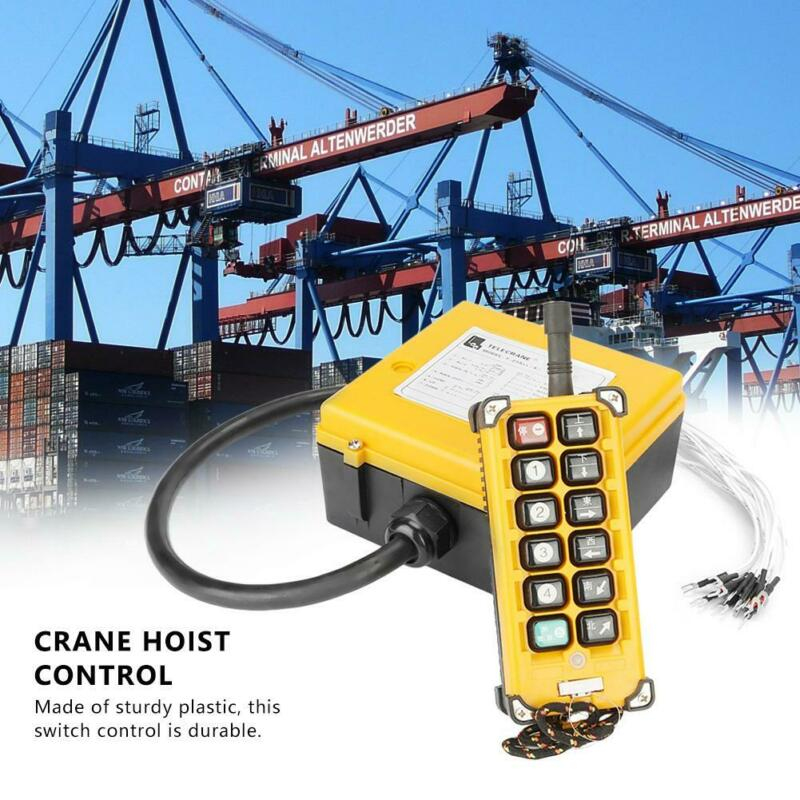 Crane Hoist Industrial Remote Control Wireless Transmitter Push Button Switch UT