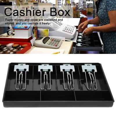 Cash Register Drawer Insert Tray Replacement Cashier Four Box With Metal Clip