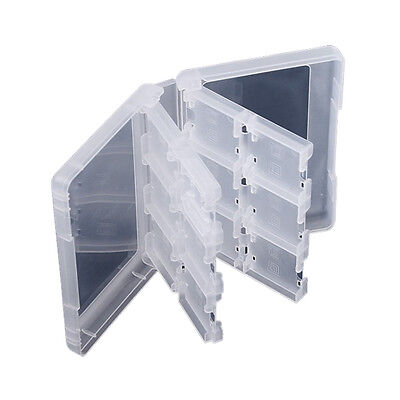 28 in 1 Game Case For Nintendo 3DS 3DS XL SD Card  Cartridge Stylus Holder White
