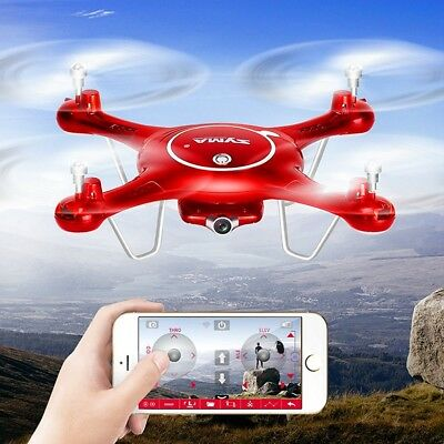 Syma X5UW Wifi FPV 720P Camera Quadcopter Drone Flight Route App Control Toy US