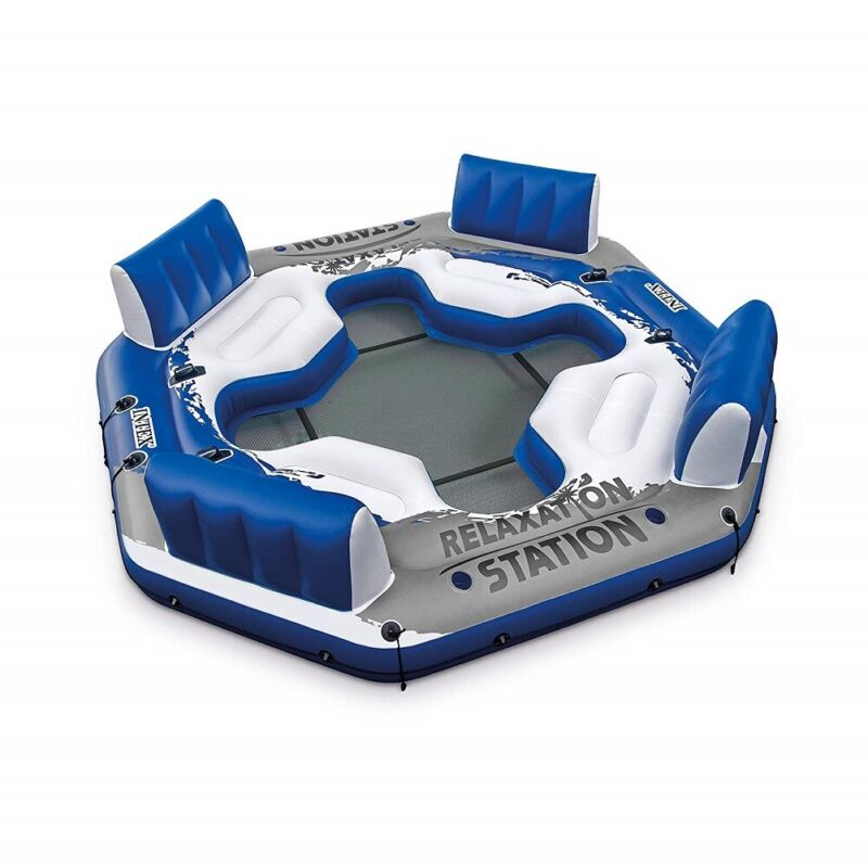 Intex Pacific Paradise 4Person Relaxation Station Water Lounge River Tube Raft