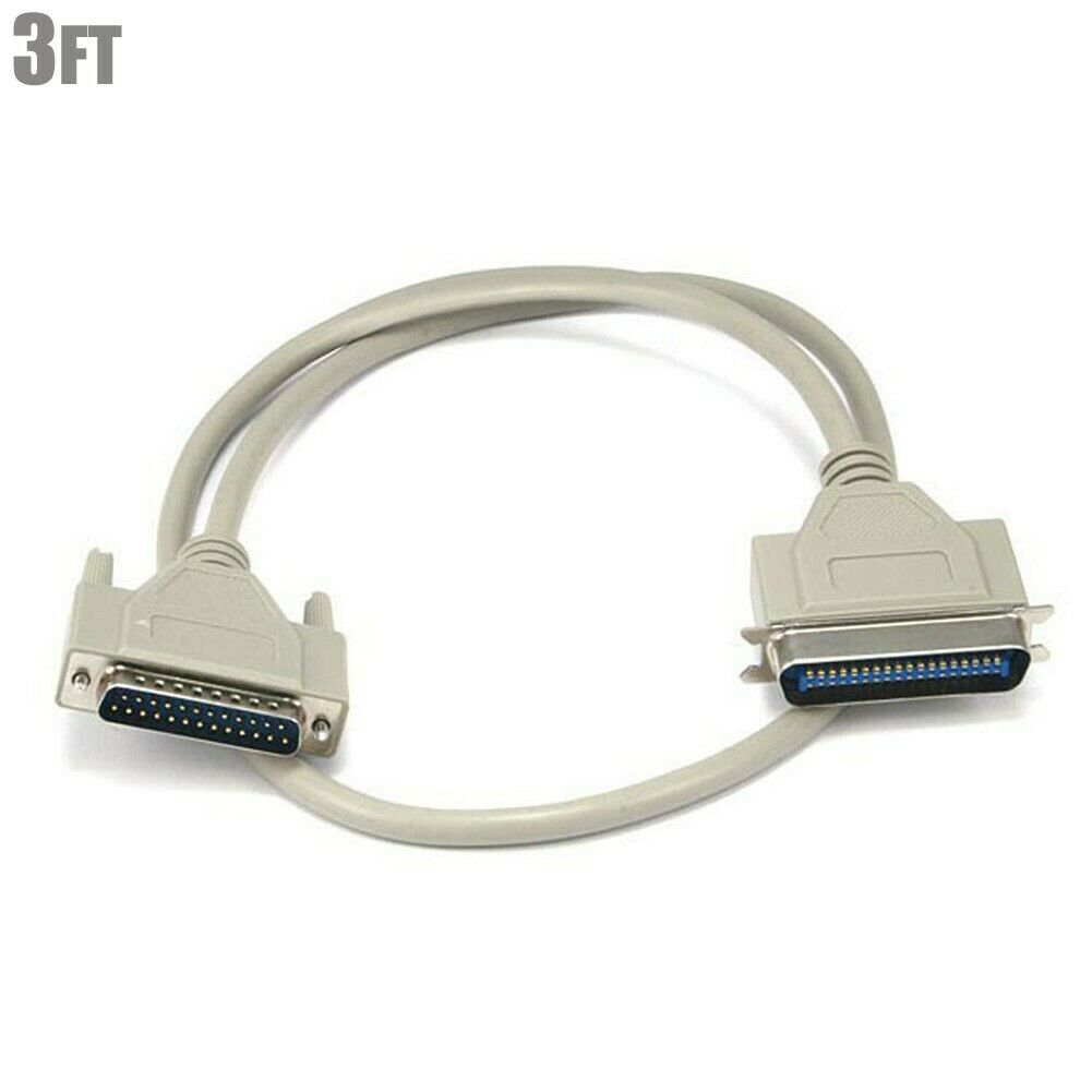 6ft IEEE 1284 Parallel DB25 DB-25 Male to CN36 Centronics Male M//M Printer Cable