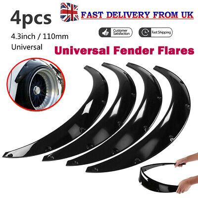 4pcs 110MM Universal Car Classic Fender Flares Over Wide Body Wheel Arches ABS
