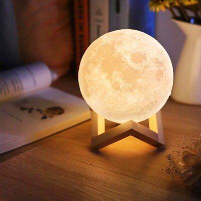 Enchanting Lunar Moon Night Light Globe LED Apollo Box Luna Lamp Best