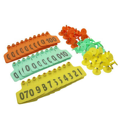 20 X Livestock Cattle Ear Tags Cow Identification Labels No 1 100 Color Yellow
