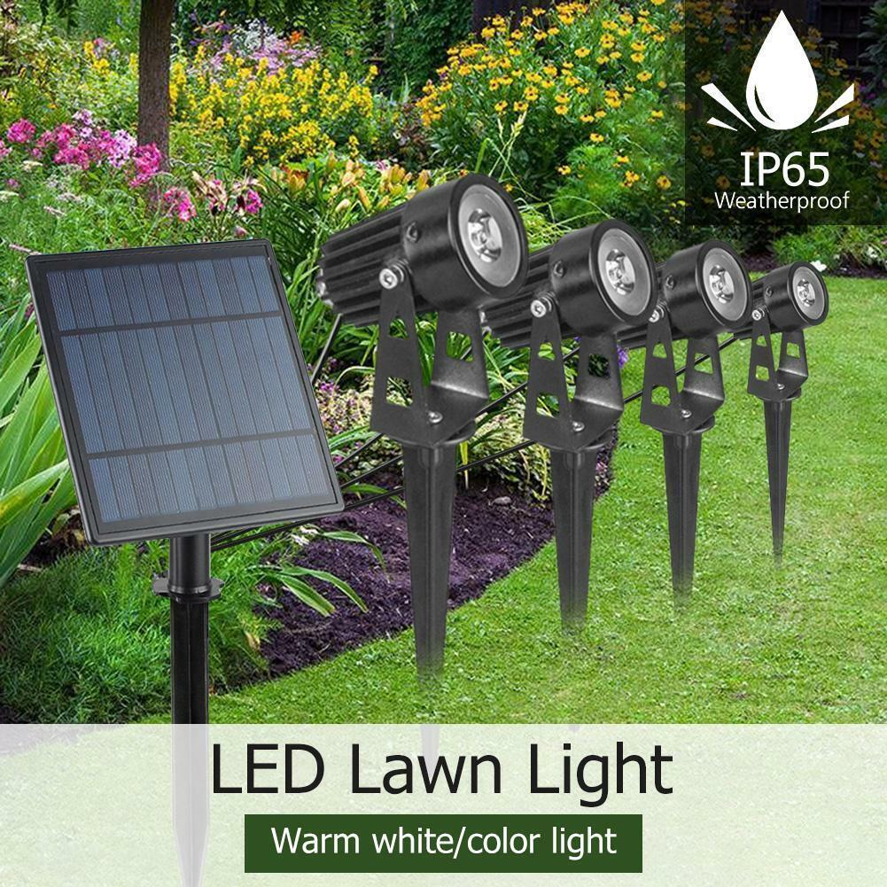 4 in 1 Solar Power Garden Lamp Spot Light Outdoor Lawn Lands