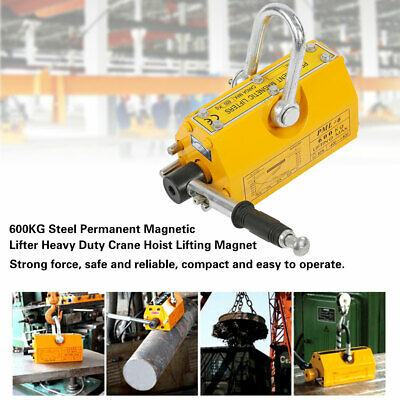 600 Kg 1322 Lb Steel Magnetic Lifter Heavy Duty Crane Hoist Lifting Magnet New