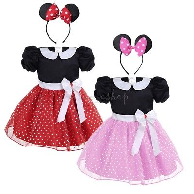 Baby Girls Princess Mouse Tutu Dress Fancy Outfits Clothes Costume Halloween ](Baby Mouse Costume Halloween)