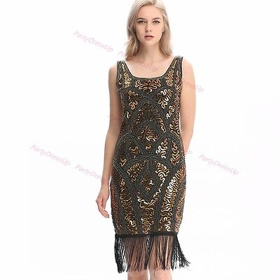 20s party dress Flapper Chicago Gatsby Fancy Dress Party Costume Plus size 6-22](Gatsby Plus Size Dress)