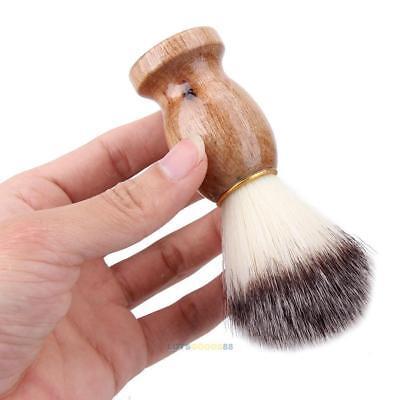 Men Shaving Bear Brush Best Badger Hair Shave Wood Handle Razor Barber Tool (Best Badger Hair Shaving Brushes)