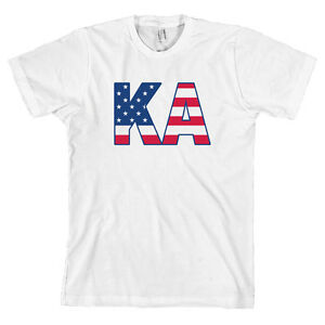kappa alpha order american apparel t shirt ka fraternity usa letters all sizes. Black Bedroom Furniture Sets. Home Design Ideas