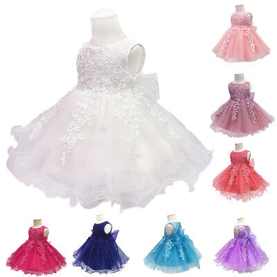 Lace Flower Girl Dresses For Toddlers (Toddler Flower Girls Lace Dress for Baby Kids Party Baptism Christening)