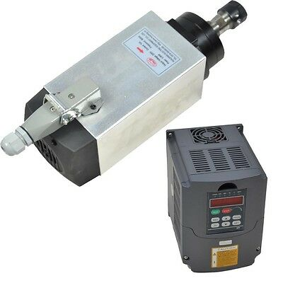 4kw Er20 Air-cooled Spindle Motor And Matching 4kw Inverter Drive Vfd For Cnc