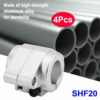 4pcs Shf20 Linear Rod Rail Shaft Support High Strength Aluminum Alloy