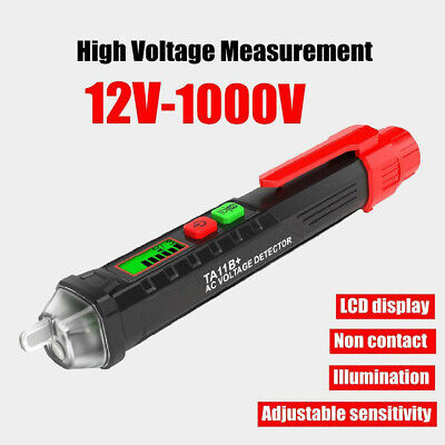 Ac Voltage Tester Pen Test Pencil 12v-1000v Sensitivity Electric Compact Tool Us