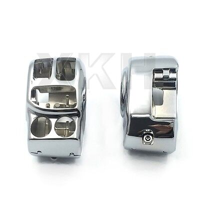 Chrome Switch Housing Cover Kit For Harley 14-16 Touring Trike Street Glide Chrome Switch Housing Kit