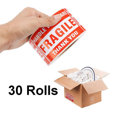 30 Rolls 500roll 2x3 Fragile Stickers Handle With Care Thank You Mailing Labels