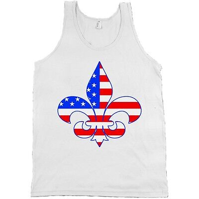 Kappa Kappa Gamma Fleur-de-lis Flag Bella + Canvas Tank Top Shirt KKG NEW