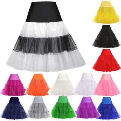 ❤Westliche❤ Unterrock 50s 60s Swing Petticoat Kostüm Rock Übergröße Rock n - 50's Swing Kostüm