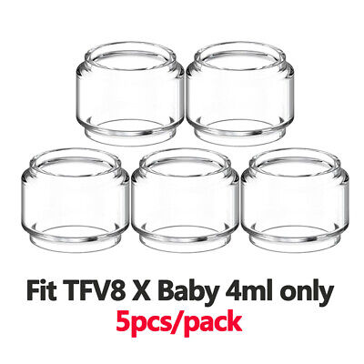 22.3mm Tall 5 Tubes 27mm OD 21.5mm ID Bulb Glass Tubing Clear Tube 24.5 x 22.3