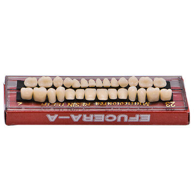 28pc 1set Dental Denture Acrylic Resin Full Set Teeth Upper Lower Shade 23 A2