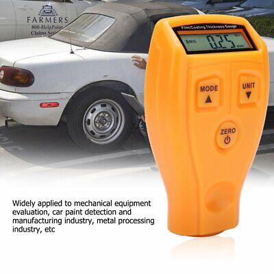Mini Lcd Digital Coat Car Paint Thickness Probe Tester Gauge Meter Measure Tool