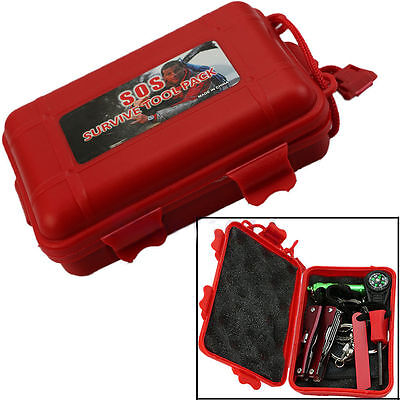 Self Help Outdoor Sport Camping Hiking Survival Emergency Gear Tool Box Kit Sets