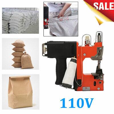 Portable Handheld Electric Bag Sewing Machine Sealing Sack Stitching Closer 110v