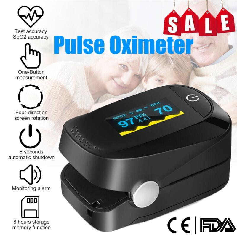 Finger Tip Pulse Oximeter SpO2 Heart Rate Monitor Blood Oxygen Meter FAST SHIP