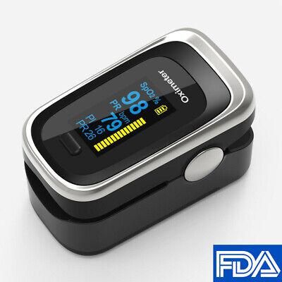 Finger Pulse Oximeter Pr Pi Respiratory Rate Fda Blood Oxygen Spo2 Monitor