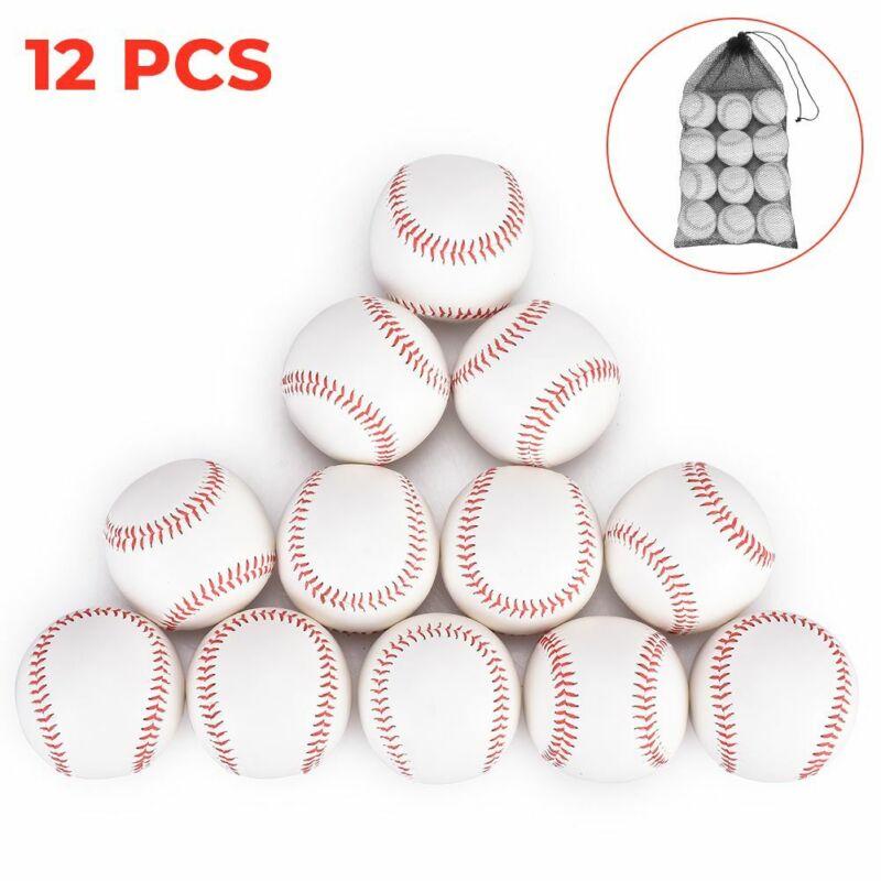 Zupapa Bag of 12 Baseballs Standard Size Soft Cushioned Safety T Balls Unmarked