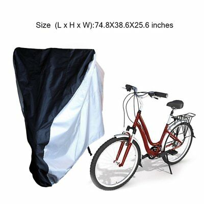 e3f35e5f5602 190T Nylon Waterproof Mountain Bike Bicycle Cycle Storage Cover with Buckle