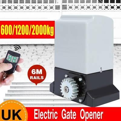 600/1200/2000kg Automatic Sliding Gate Opener Door Open Closer w/ Remote Control
