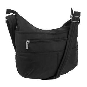 Travelon Anti-Theft Complete Crossbody Purse Bag RFID Blocking Card Slots Black
