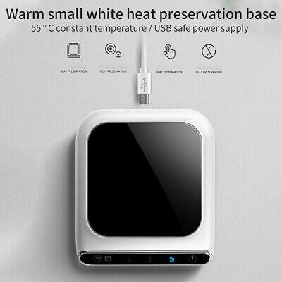 Waterproof Heating Pad Abs Home Office Coffee Mug Warmer Adjustable Temperature