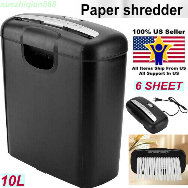 Commercial OFFICE HOME Shredder PAPER DESTROY Strip Cut Heavy Duty Credit Card