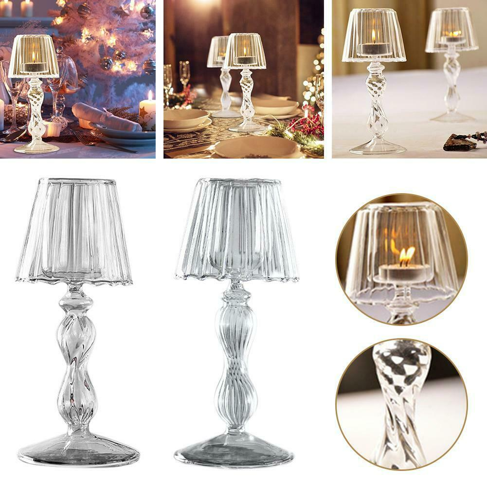Details about Candle Holder Glass Table Lamp Shape Wedding Romantic Candlelight Dinner Decor
