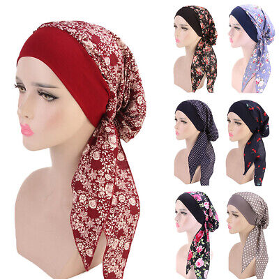 Women Turban Head Scarf Chemo Hat Hijab Headwear Bandana Beanie Cancer Cap New Clothing, Shoes & Accessories