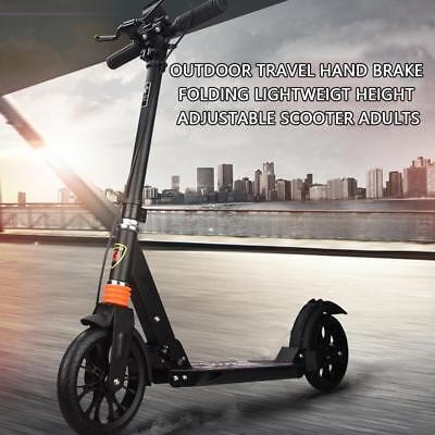 Foldable Best Scooter Aluminium Alloy Ultralight Kick Scooetr Black (Best Folding Electric Scooters)