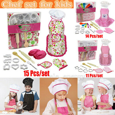 Chef Set for Kids Complete Kids Cooking and Baking Set with Apron for Girls boys