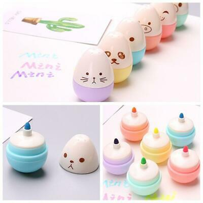 5 Pcslot Smile Egg Mini Highlighter Pen Marker Pens Stationery Material Paint