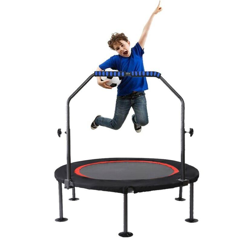 "50""Fitness Trampoline Mini Rebounder Fitness Foldable Gym Ca"