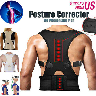 Magnets Back Pain - Magnetic Therapy Posture Corrector Shoulder Support Belt Back waist Pain Brace