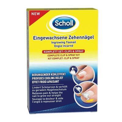 Scholl Eingewachsene Zehennägel Komplett Clips Spray Beruhigender Qualität Zeh