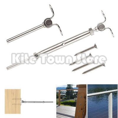 T316 Stainless Steel Deck Toggle Tensioner Set for Cable Railing- 3/16